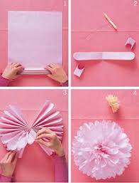 how to assemble your tissue pom pom balls tissue paper and