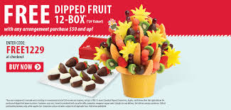 edible fruit arrangement coupons fruit dipped box w 50 purchase of edible arrangements coupon