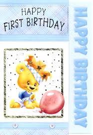 boys first birthday card