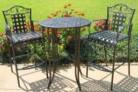 Iron Bistro Table Set Reasons To Choose Wrought Iron Patio Furniture Sets U2014 Bitdigest Design