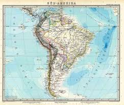 Old Map South America by