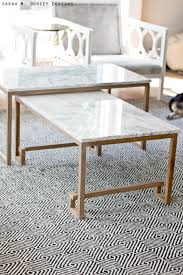 marble wood coffee table marble nesting tables for the living room dorsey designs