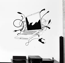 aliexpress com buy computer vinyl wall sticker laptop computer aliexpress com buy computer vinyl wall sticker laptop computer online internet gamer it play room mural art wall decal office room home decoration from