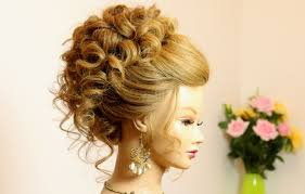 curly hairstyle for long medium hair wedding prom updo youtube