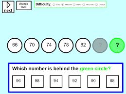 sequences tablet version mathsframe