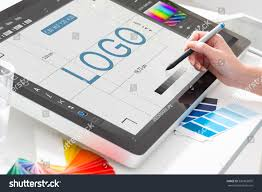 design tablet logo design brand designer sketch graphic stock photo 530963695