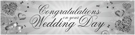 wedding congratulations banner banners partymoods events