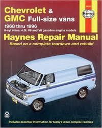 chevrolet vans 68 96 haynes repair manuals haynes 9781563921971