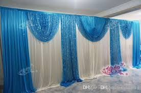 wedding backdrop blue luxury royal blue wedding backdrop curtain sequins swag 3m 6m10ft