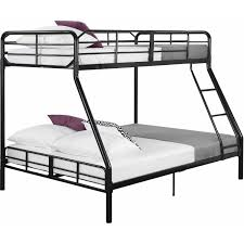 Metal Bunk Bed Frame Mainstays Metal Sturdy Bunk Bed Black Walmart