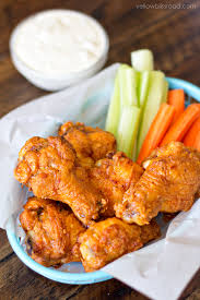 best crispy baked chicken wings with buffalo sauce