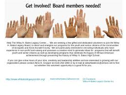 Seeking Join The Wiley H Bates Legacy Center Seeking Volunteers To Join The Board