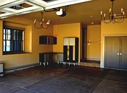 garage floor upgrade interior paint epoxy floor and shelves
