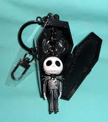 ketchup keychain disney parks nightmare before christmas jack skellington coffin