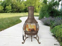 furnitures make your patio more comfy with chiminea for