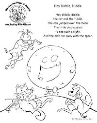 preschool coloring pages nursery rhymes rhymes