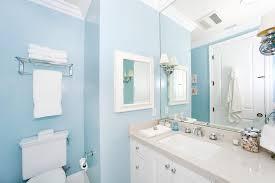 Light Blue Bathroom Decor Two White Ceramic Modern Sink Brown