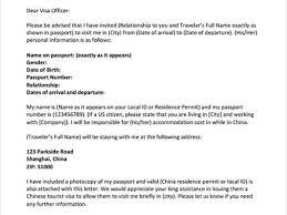 us immigration invitation letter ideas sample letter for