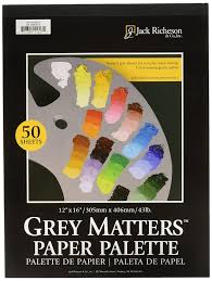 amazon com jack richeson grey matters paper palette 12 by 16