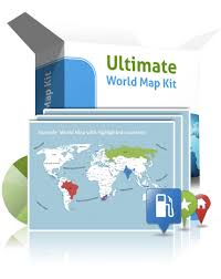 World Map Template For Powerpoint Premiumslides Com Worlds Best Ppt