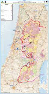 Map Israel Israel Security Fence Route Map Israel U2022 Mappery