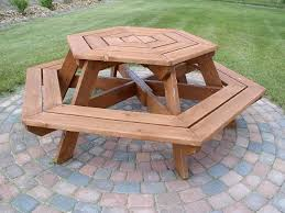 round wood picnic table table ideas