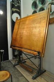 Mechanical Drafting Tables Vintage Large Oak Industrial Drafting Table With Cast Iron