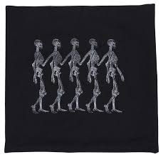 wholesale suppliers for home decor marching skeletons 18 x 18 u201d black u0026 silver cushion cover in bulk