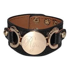 black leather cuff bracelet images Monogrammed leather cuff bracelet be monogrammed jpg