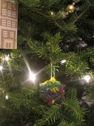 crooked house crayon ornaments