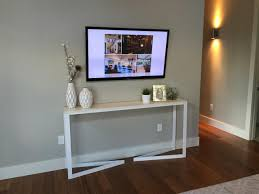 console table under tv wall units best table for under wall mounted tv table for under