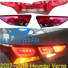 hyundai santa fe tail light assembly 2017 2018 verna taillight solaris free ship led verna rear light