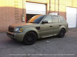 wrapped range rover sport range rover sport hse wrapped in frozen green midnight sand matte