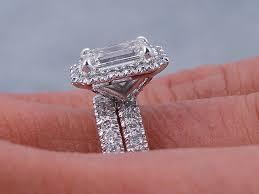 emerald cut wedding set ctw emerald cut diamond wedding ring set g vs2 includes a