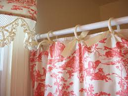 retrospect red toile shower curtain and matching valance