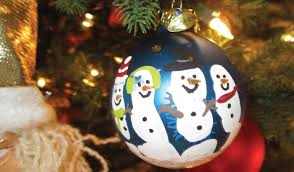 handprint snowman ornament craft for