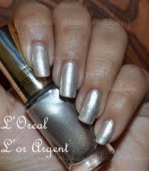 preciouspearlmakeup l u0027oreal color riche nail lacquer l u0027or argent