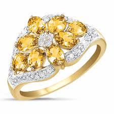 sunflower engagement ring sunflower citrine ring the danbury mint