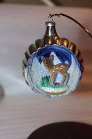 vintage ornament glass ornament italy diorama ornament