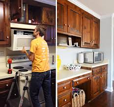 microwave with exhaust fan replacing a hanging microwave with a range hood young house love
