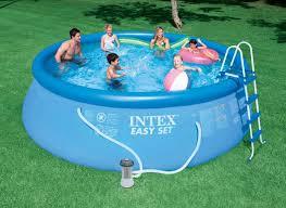 Intex Pool 14x42 Intex 15 X 48 Easy Set Above Ground Swimming Pool W 1000 Gph Gfci