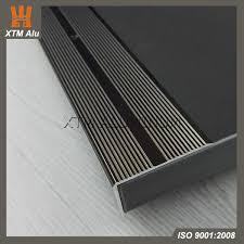 ceramic tile top floor hard wearing aluminum anti slip stair