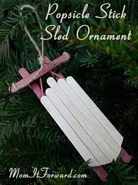 how to make a popsicle stick sled ornament momitforward