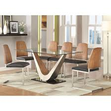 Glass Dining Table With 6 Chairs Remarkable Glass Topped Dining Table And Chairs Dining Table