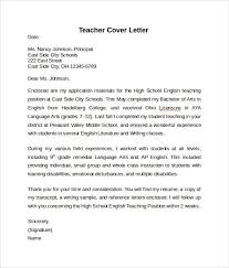 Cover Letter For High School Teaching Position Cover Letters Cover Letter Sle Pdf