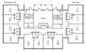 Residences Evelyn Floor Plan Pennsylvania U0026 Mabee Halls Residence Life Letourneau University