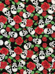 skulls and roses fabric bodikian textiles