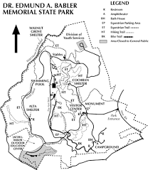 Missouri State Parks Map by Babler Memorial State Park Maplets