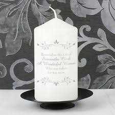 In Memory Of Gifts Personalised Personalised Memorial Candle Ebay