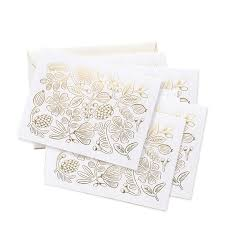 rifle paper gold botanical boxed cards eco paper at vickerey